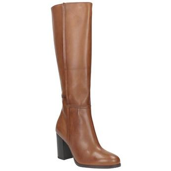 Dámské kožené čižmy bata, hnedá, 794-4447 - 13