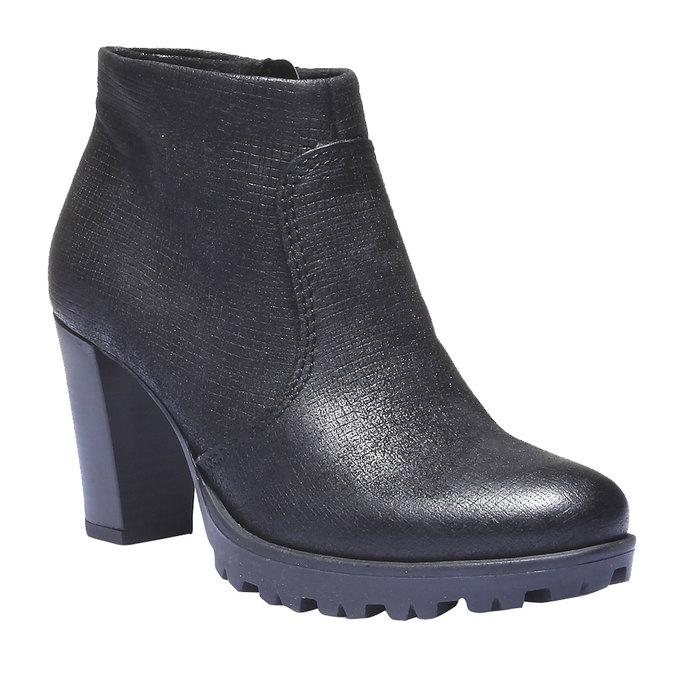 Kožené členkové topánky bata, čierna, 796-6107 - 13