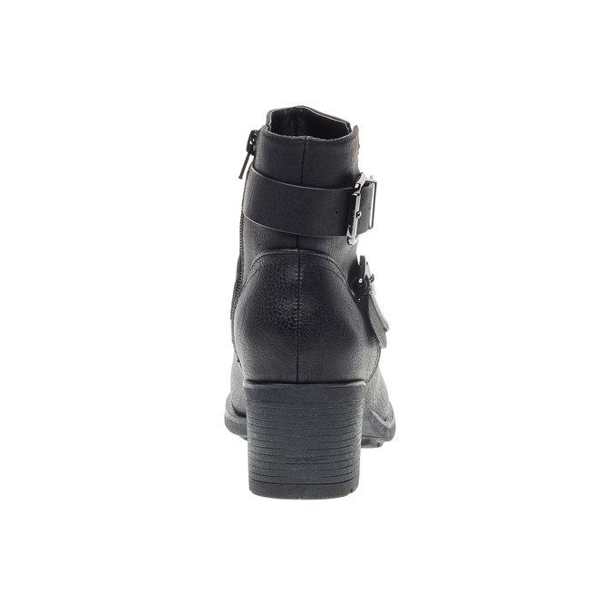 Členková obuv s prackami bata, čierna, 691-6103 - 17