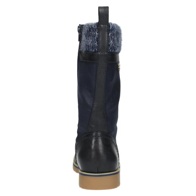 Detská zimná vysoká obuv mini-b, modrá, 491-9650 - 17