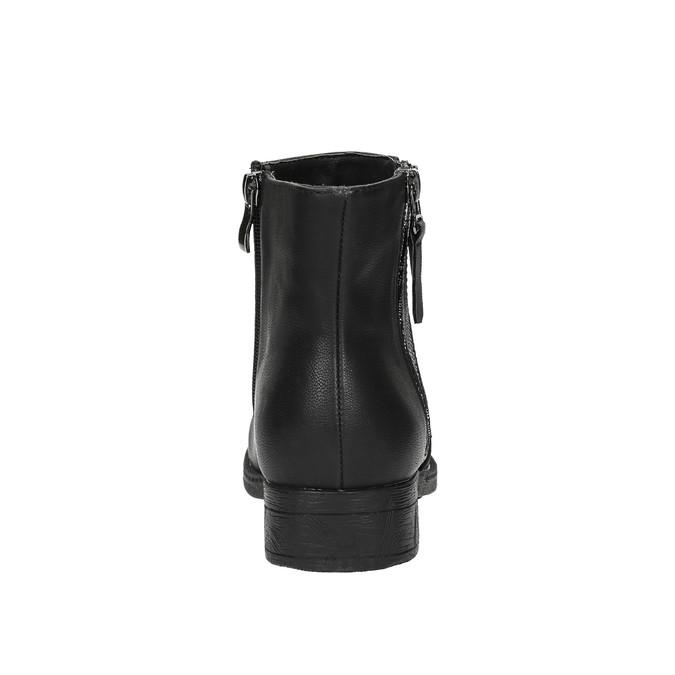 Dámska členková  obuv so zipsami bata, čierna, 591-6612 - 17