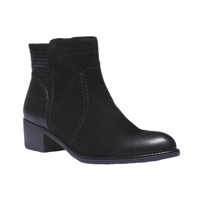 Kožené členkové čižmy bata, čierna, 596-6103 - 13