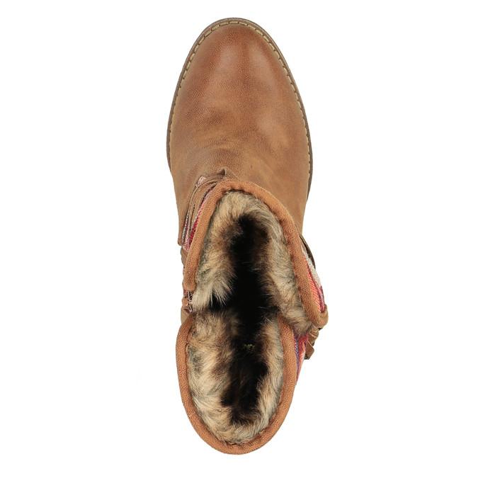 Členkové čižmy vo Western štýle so zateplením bata, hnedá, 699-4603 - 19