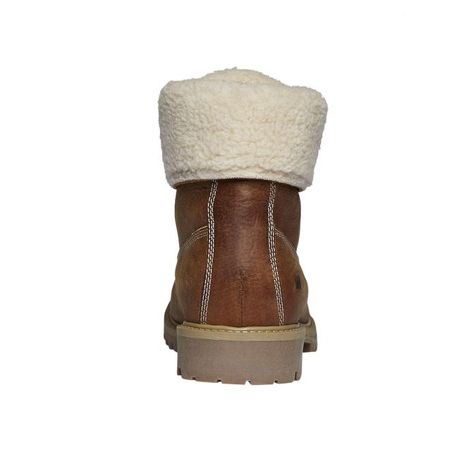 Kožená obuv s kožušinou weinbrenner, hnedá, 594-3823 - 17