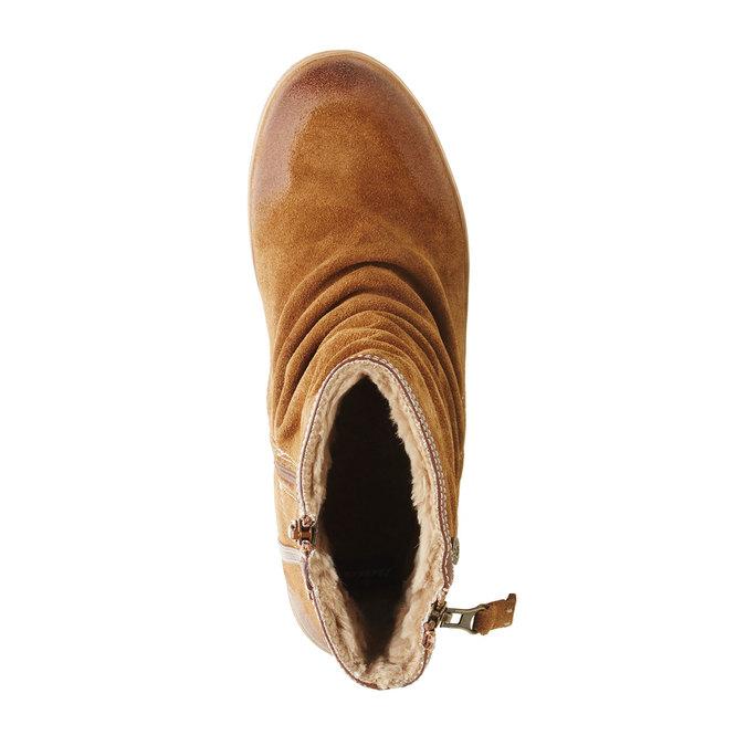 Kožená členková obuv bata, hnedá, 593-4103 - 19