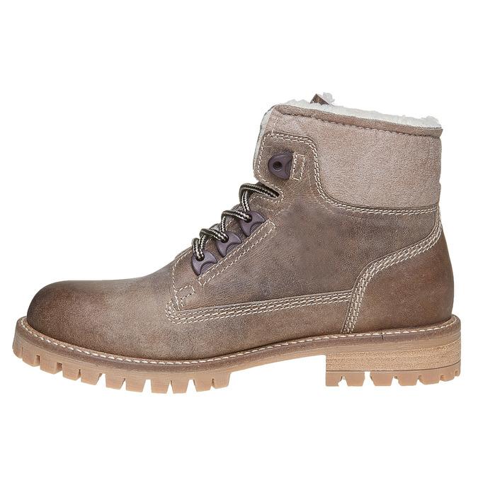 Dámska kožená zimná obuv weinbrenner, hnedá, 594-8491 - 19