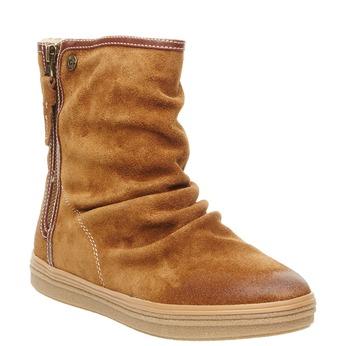 Kožená členková obuv bata, hnedá, 593-4103 - 13