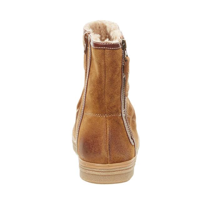 Kožená členková obuv bata, hnedá, 593-4103 - 17