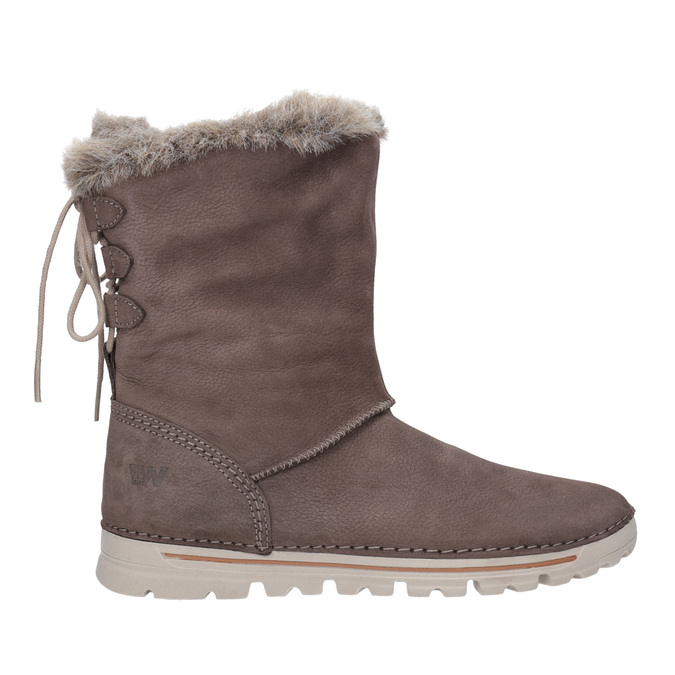 Kožená členková obuv weinbrenner, hnedá, 596-4334 - 26
