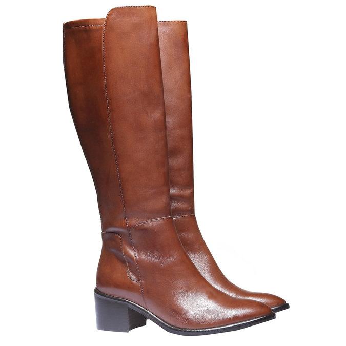 Kožené čižmy bata, hnedá, 694-3252 - 26