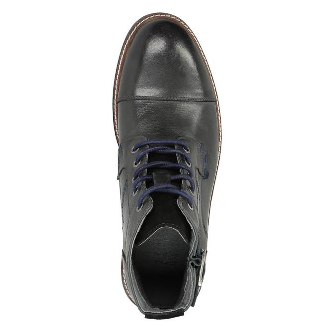 Pánska členková obuv bata, čierna, 894-6651 - 19