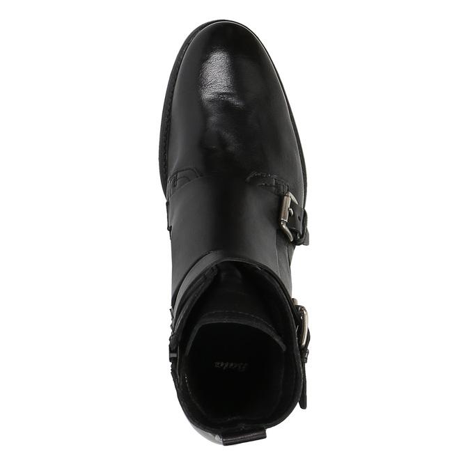 Kožená obuv s prackami bata, čierna, 894-6683 - 19