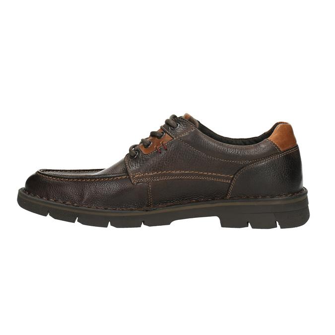 Kožené ležérne poltopánky na výraznej podrážke bata, hnedá, 824-4696 - 26