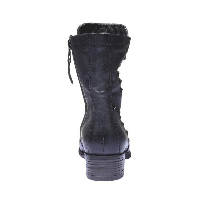 Kožená členková obuv bata, modrá, 596-9101 - 17