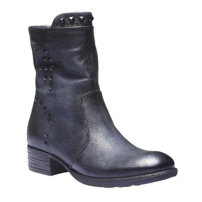 Kožená členková obuv bata, modrá, 596-9101 - 13