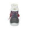 Detská zimná obuv so srdiečkami bubblegummer, šedá, 199-2600 - 17