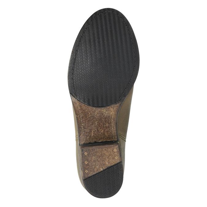Dámske kožené čižmy vo Western štýle bata, hnedá, 696-2607 - 26