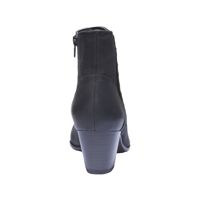 Dámska členková obuv bata, čierna, 696-6100 - 17