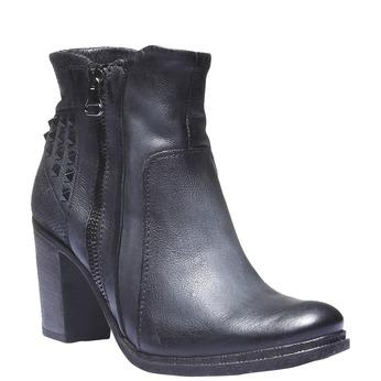 Kožená členková obuv bata, šedá, 796-9100 - 13