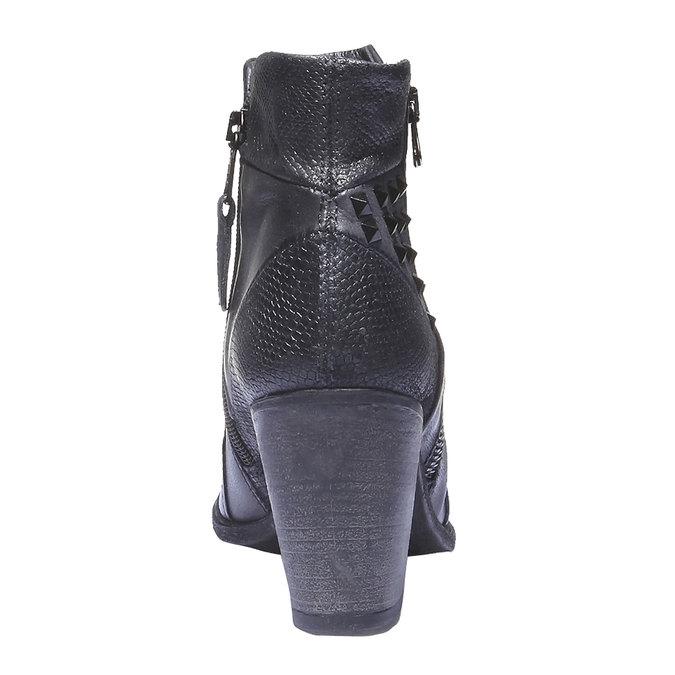 Kožená členková obuv bata, modrá, 796-9100 - 17