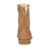 Kožená členková obuv so zateplením bata, hnedá, 596-3610 - 17