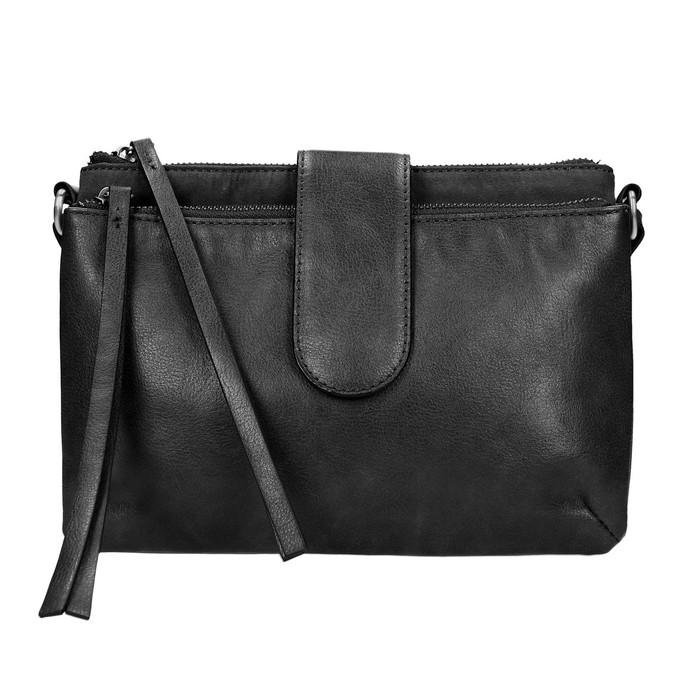 Menšia kabelka cez rameno bata, čierna, 969-6458 - 19