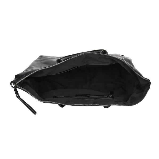 Kabelka s odnímatelným popruhom bata, čierna, 961-6846 - 15