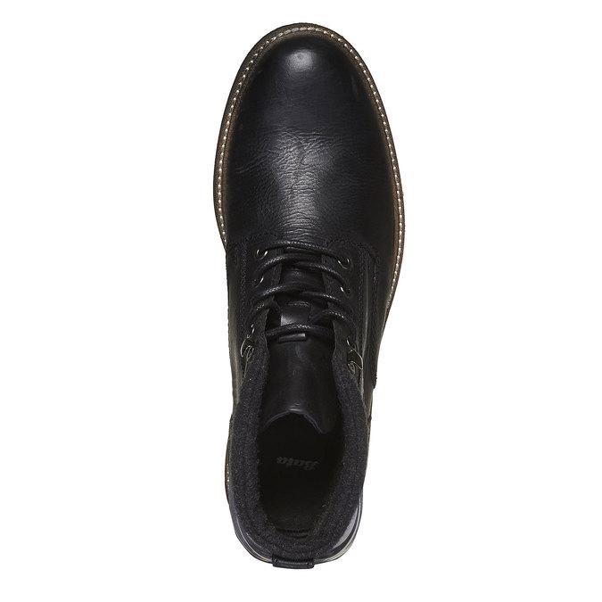 Kožená zimná obuv členková bata, čierna, 894-6133 - 19