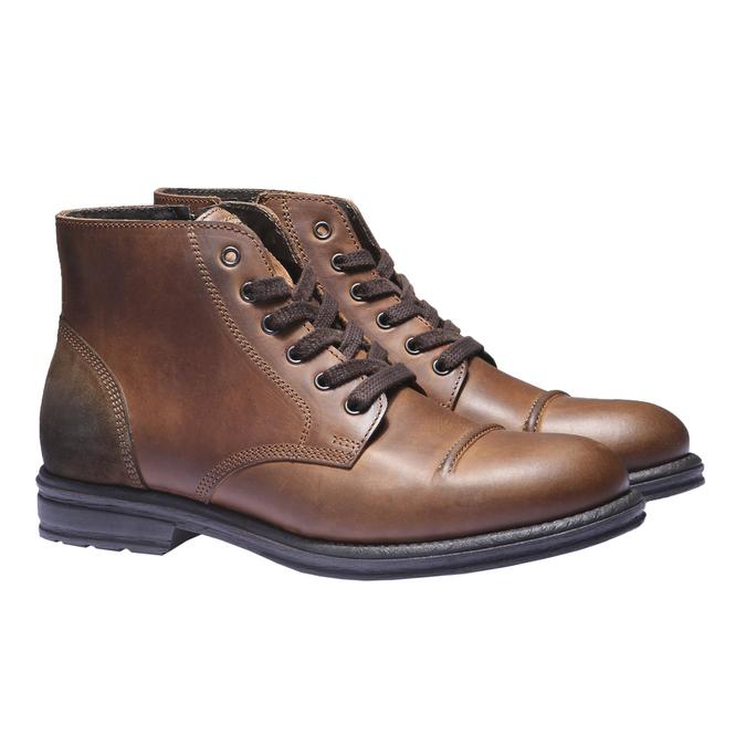 Ležérna kožená obuv bata, hnedá, 894-3555 - 26