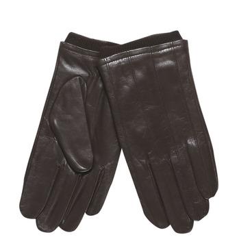 Pánské kožené rukavice s úpletom bata, hnedá, 904-4117 - 13