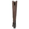 Kožené čižmy nad kolená na masivnom podpätku bata, hnedá, 696-4611 - 17