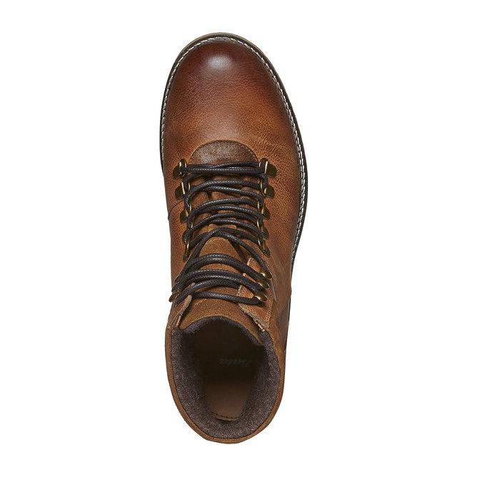 Zimné kožené topánky k členkom bata, hnedá, 894-3100 - 19