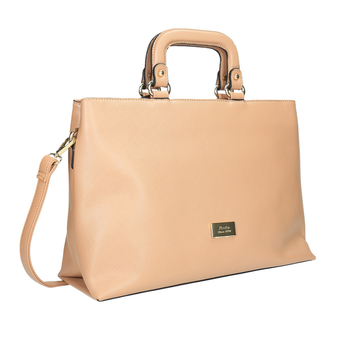 Dámska kabelka do ruky bata, béžová, 961-8627 - 13