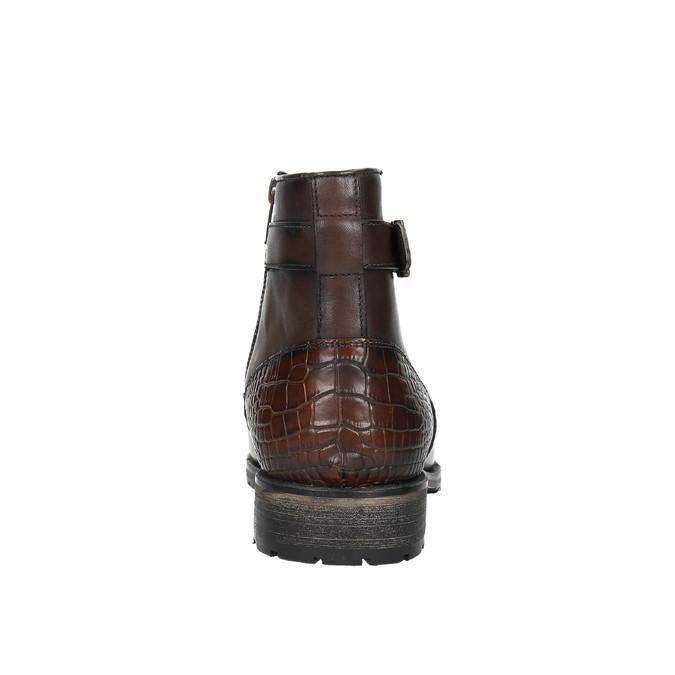 Členková pánska obuv s prackou bata, hnedá, 894-4652 - 17