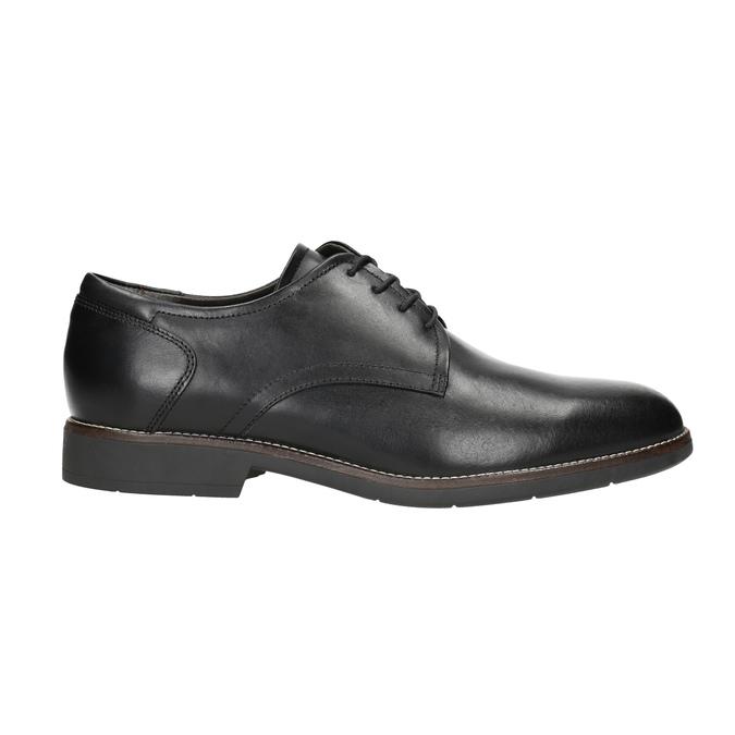 Kožené poltopánky v štýle derby bata-light, čierna, 824-6616 - 15