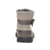 Detská obuv s pleteným lemom mini-b, šedá, 291-2154 - 17