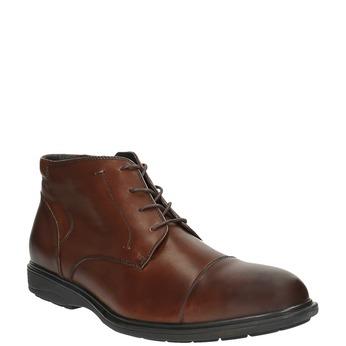 Kožená pánska obuv ku členkom bata, hnedá, 894-4671 - 13