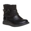 Detská obuv s úpletom mini-b, čierna, 291-6154 - 13