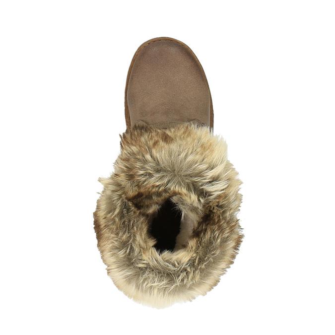 Dámska zimná obuv s kožúškom bata, hnedá, 591-3605 - 19