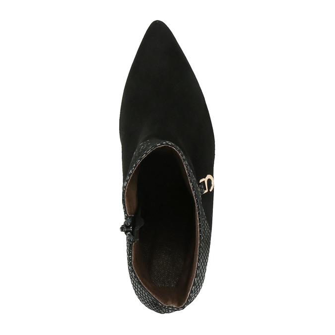 Kožené členkové čižmy na ihličkovom podpätku bata, čierna, 796-6640 - 19