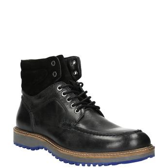 Kožená zimná obuv na výraznej podrážke bata, čierna, 894-6658 - 13