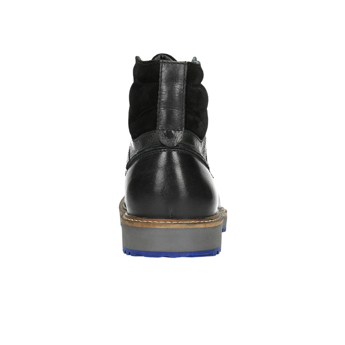 Kožená zimná obuv na výraznej podrážke bata, čierna, 894-6658 - 17