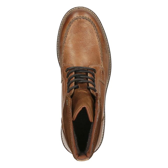 Kožená členková obuv pánska bata, hnedá, 894-3658 - 19