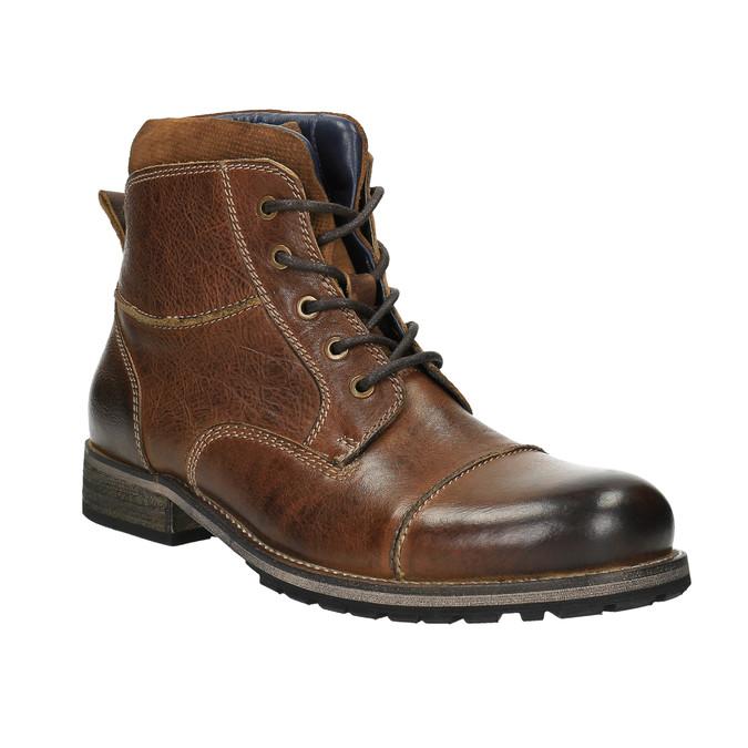 Kožená pánska obuv bata, hnedá, 894-3650 - 13