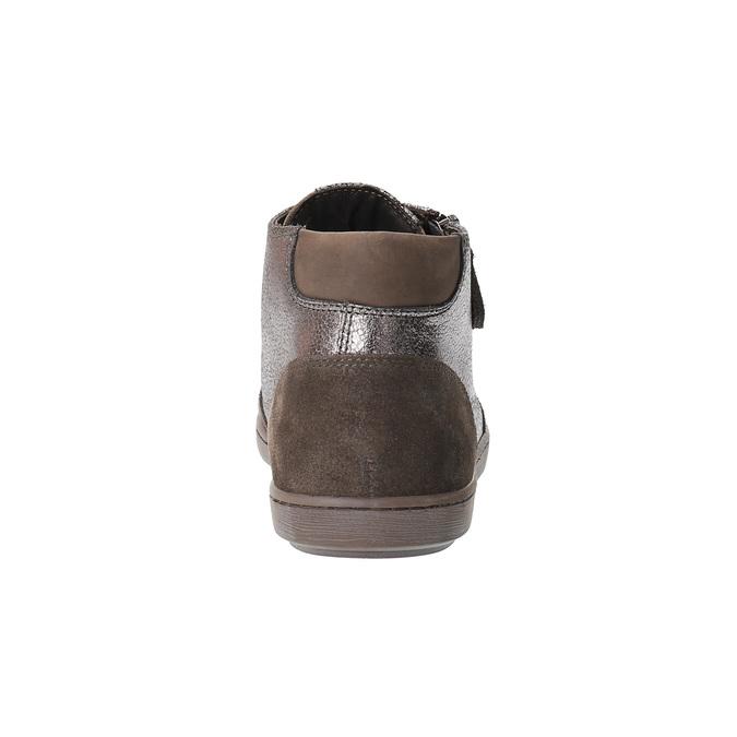 Dámske kožené členkové tenisky bata, hnedá, 596-4613 - 17