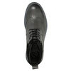 Kožená členková obuv s Brogue zdobením bata, šedá, 896-2646 - 19