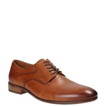 Pánske celokožené poltopánky bata, hnedá, 826-3778 - 13