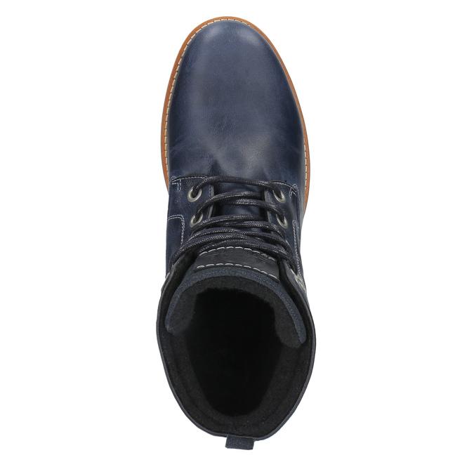 Kožená členková obuv na ležérnej podrážke bata, modrá, 894-2660 - 19