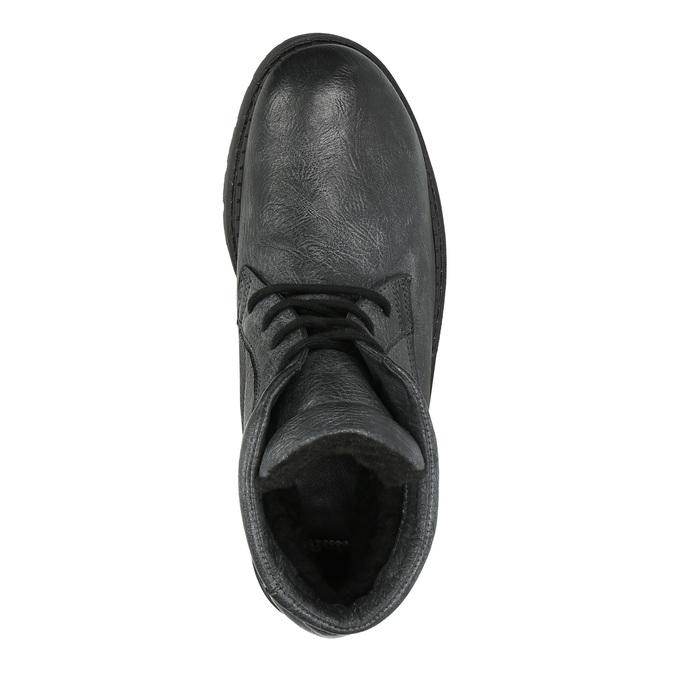 Pánska kožená členková obuv bata, šedá, 896-2653 - 19