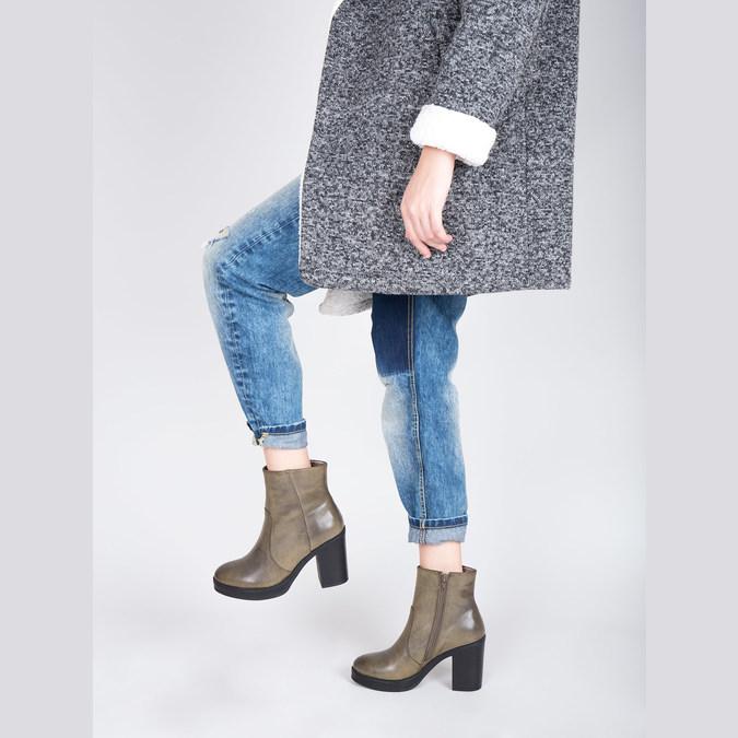 Členková obuv na širokom podpätku bata, hnedá, 791-3601 - 18
